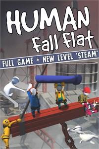 Carátula para el juego Human: Fall Flat + Steam Level de Xbox 360