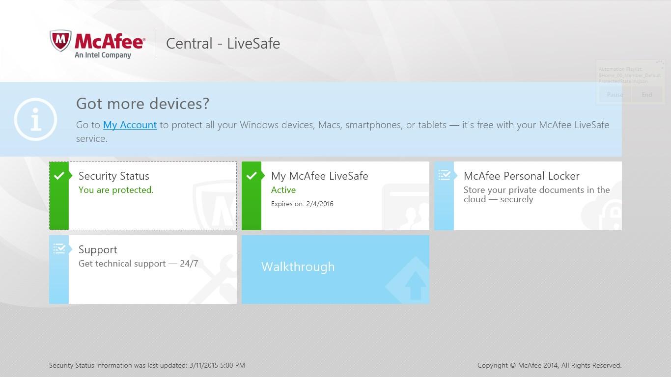 McAfee® Central for Lenovo
