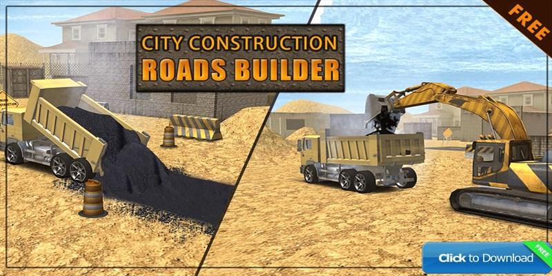 Get City Construction Roads Builder 3D - Excavator Sim
