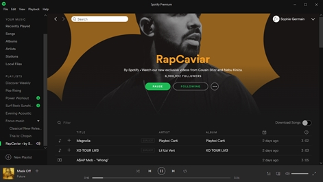 Spotify Music Screenshot
