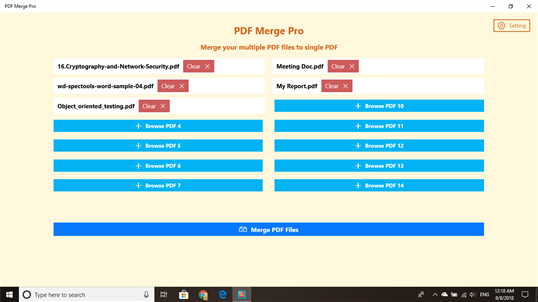 PDF Merge Pro screenshot 2