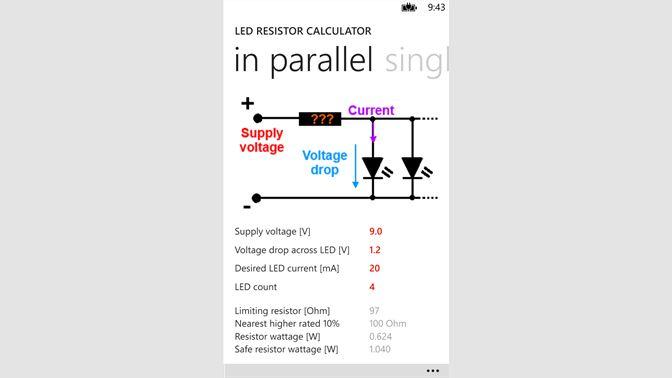Get LED Resistor Calculator - Microsoft Store