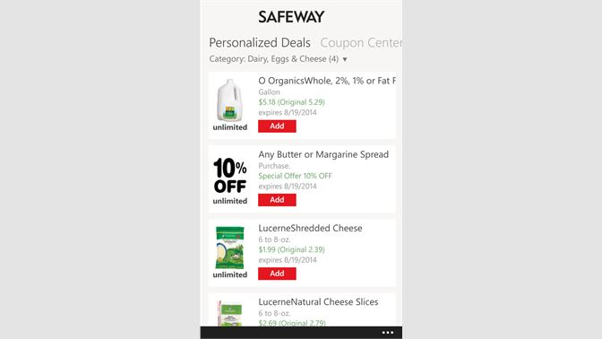 Buy Coupons for Safeway - Microsoft Store