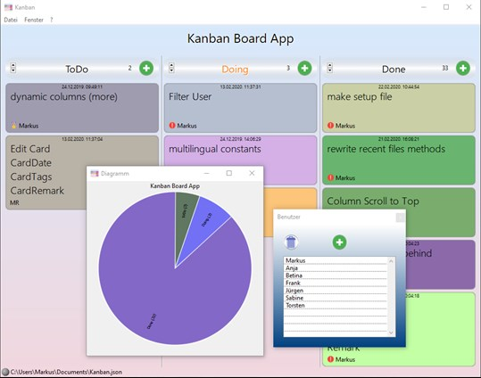 Kanban Board on Desktop screenshot