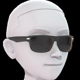 Sunglasses - Wayfarers - Black