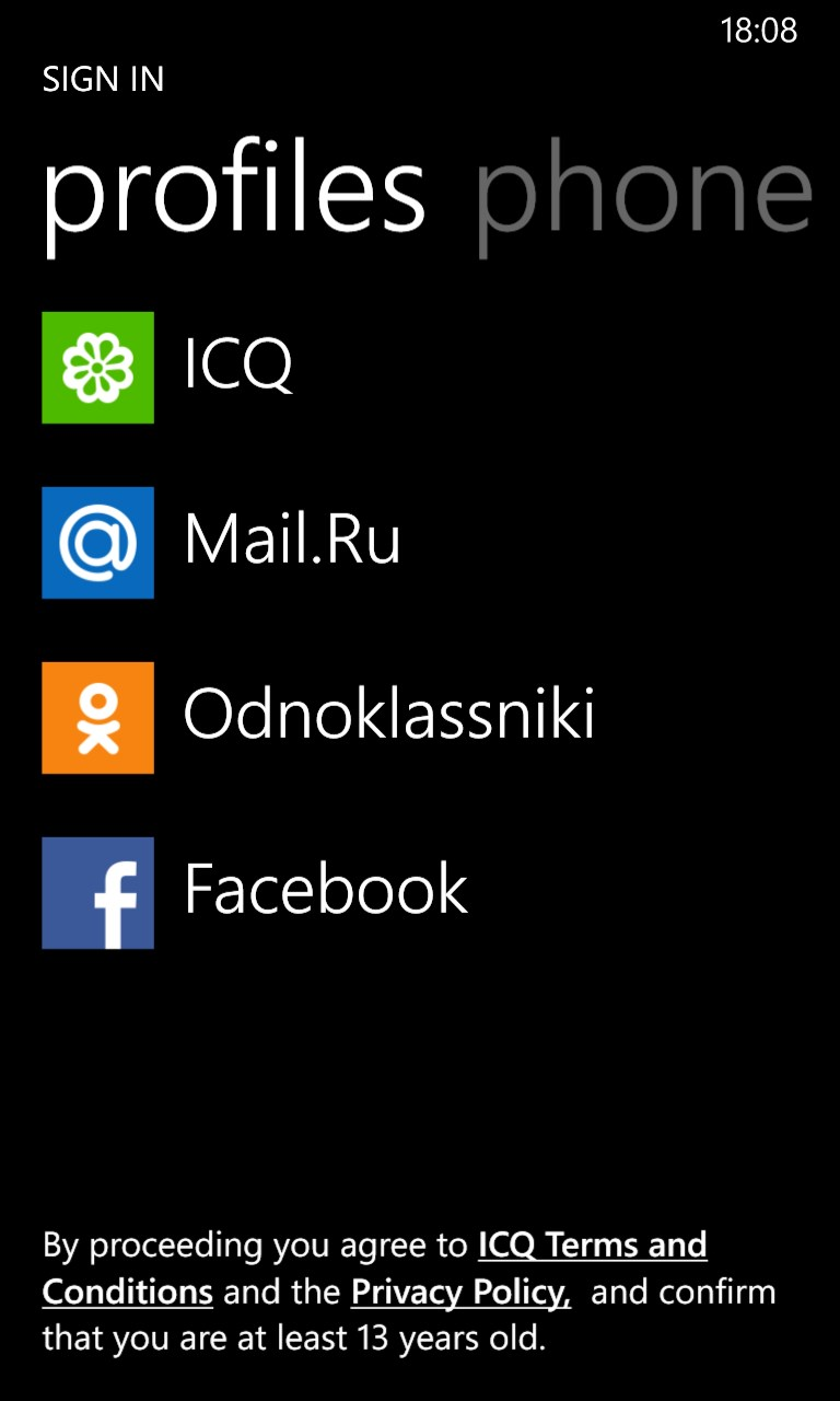 ICQ for Windows 10 Mobile