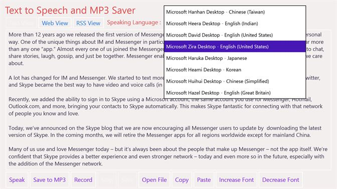 Kjøp Text to Speech and MP3 Saver – Microsoft Store nb-NO
