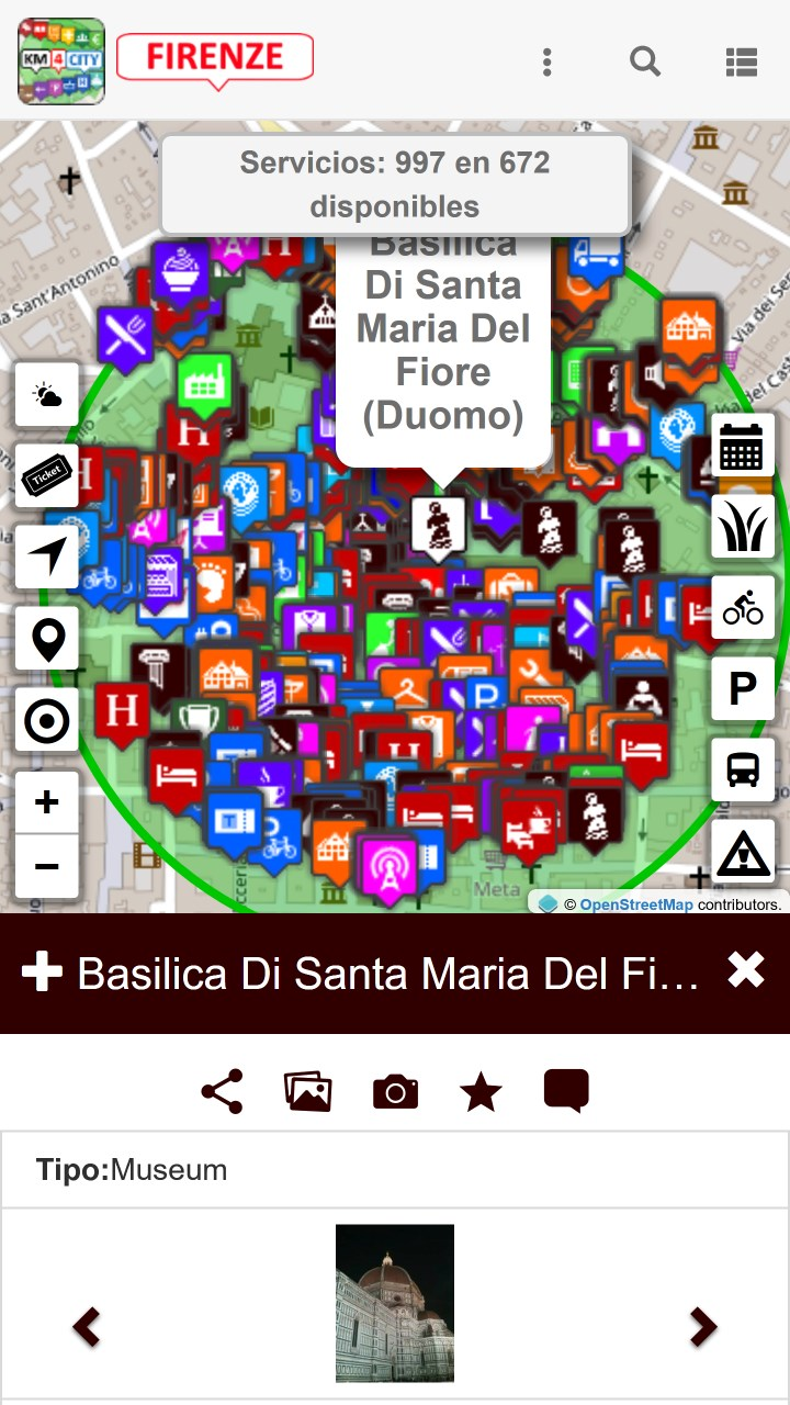 Captura de Pantalla 4 de Firenze dove, cosa... Km4city para windows