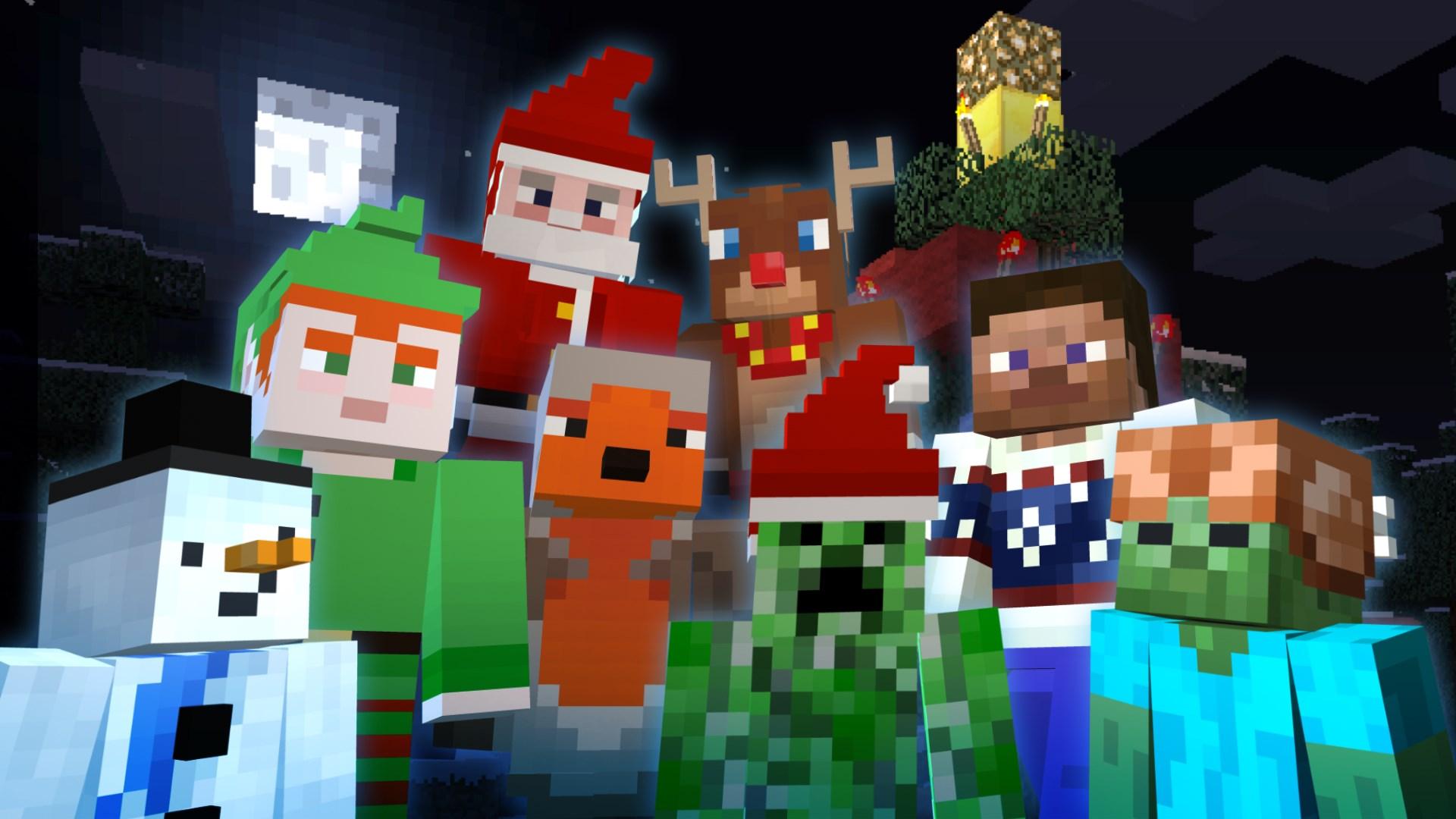 Minecraft Christmas Skins.Buy Minecraft Festive Skin Pack Microsoft Store En Ca