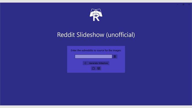 Get Reddit Slideshow (unofficial) - Microsoft Store