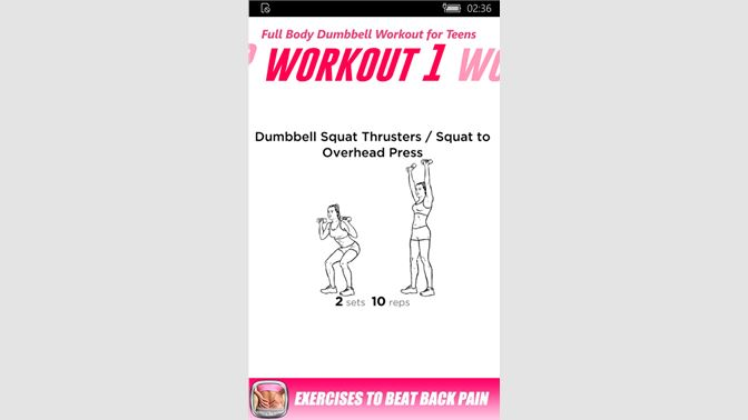 Get Full Body Dumbbell Workout For Teens