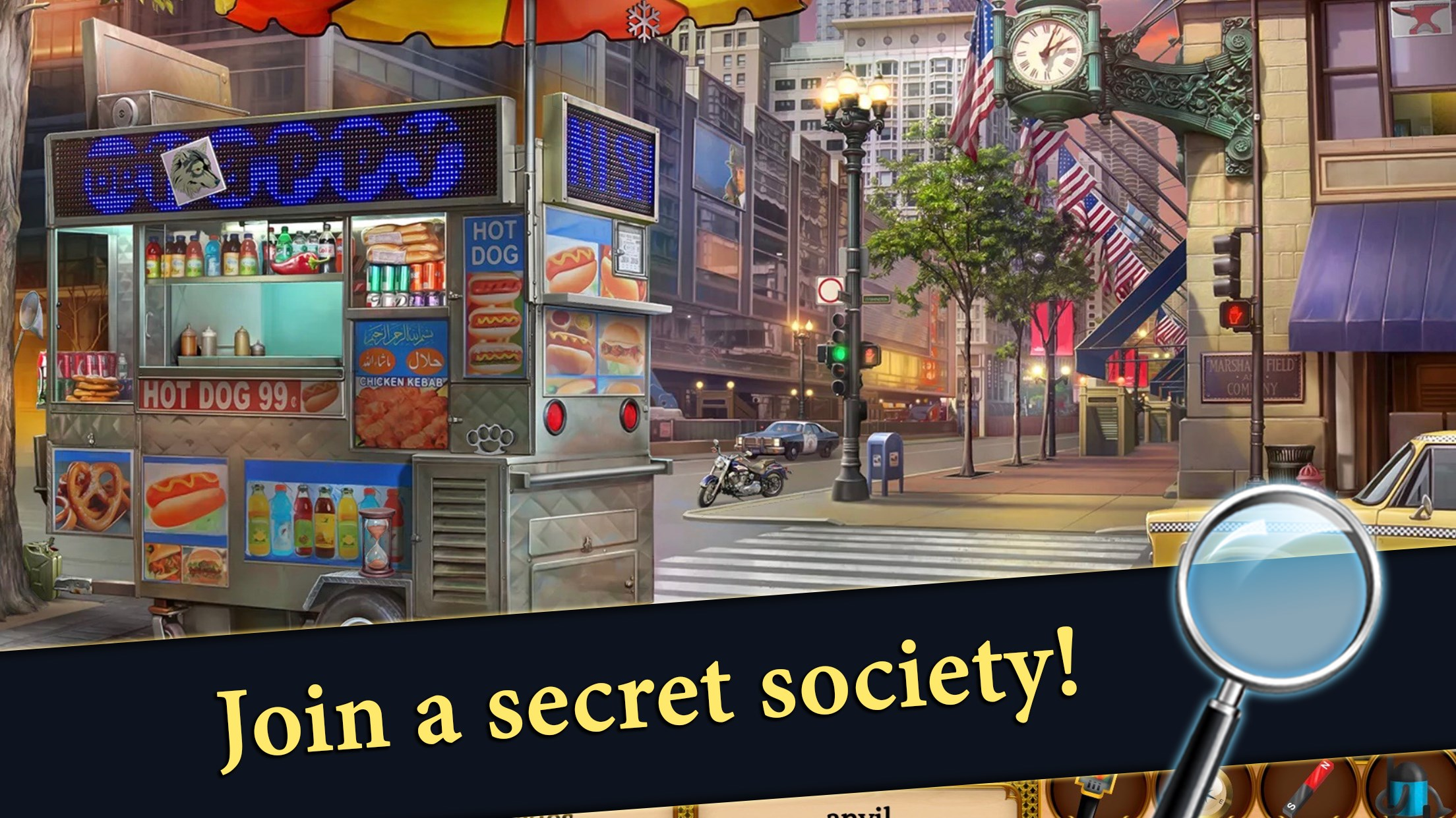 Hidden Objects: Mystery Society HD