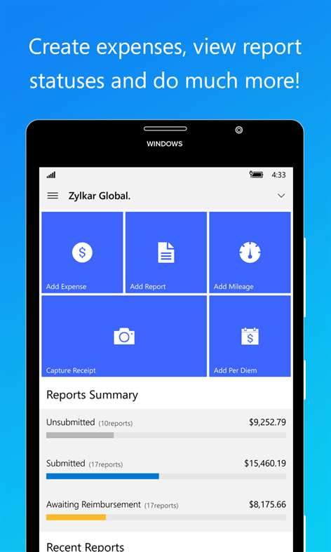 Buy Zoho Expense Reports Microsoft Store – Microsoft Expense Report