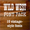 Monotype Wild West Font Pack
