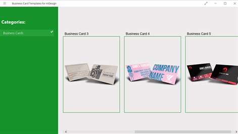 Business Card Templates for InDesign Screenshots 2