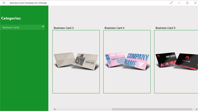 Buy Business Card Templates For Indesign Microsoft Store En Kh