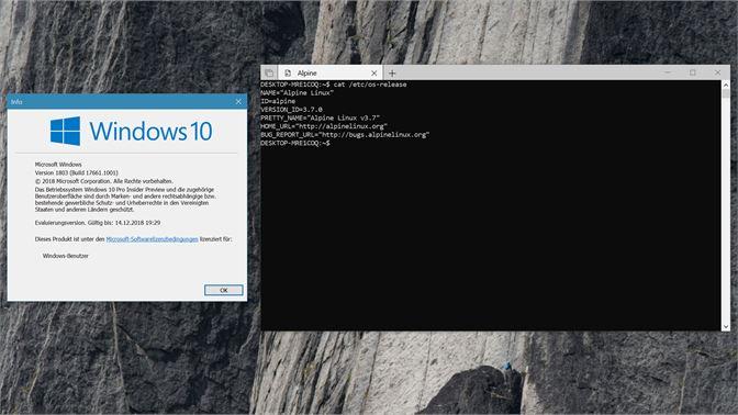 Get Alpine WSL - Microsoft Store