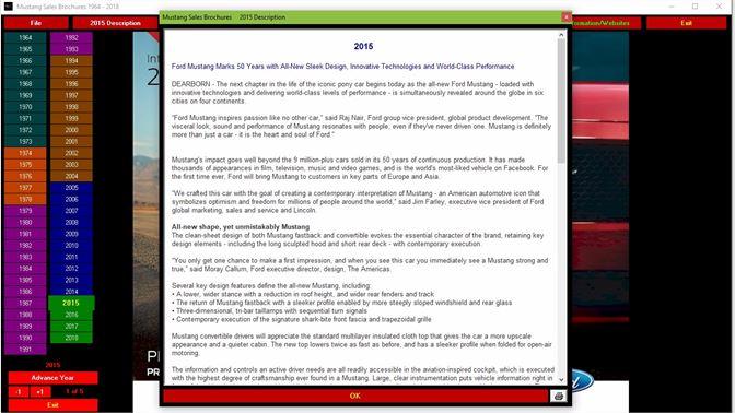 mustang sales brochures
