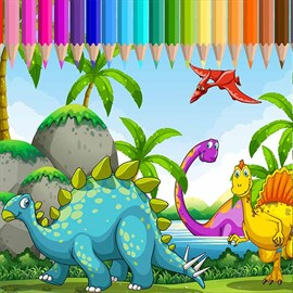 Get Dinasour Coloring Book For Kids Learning