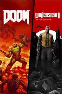 Carátula para el juego DOOM + Wolfenstein II Bundle de Xbox 360