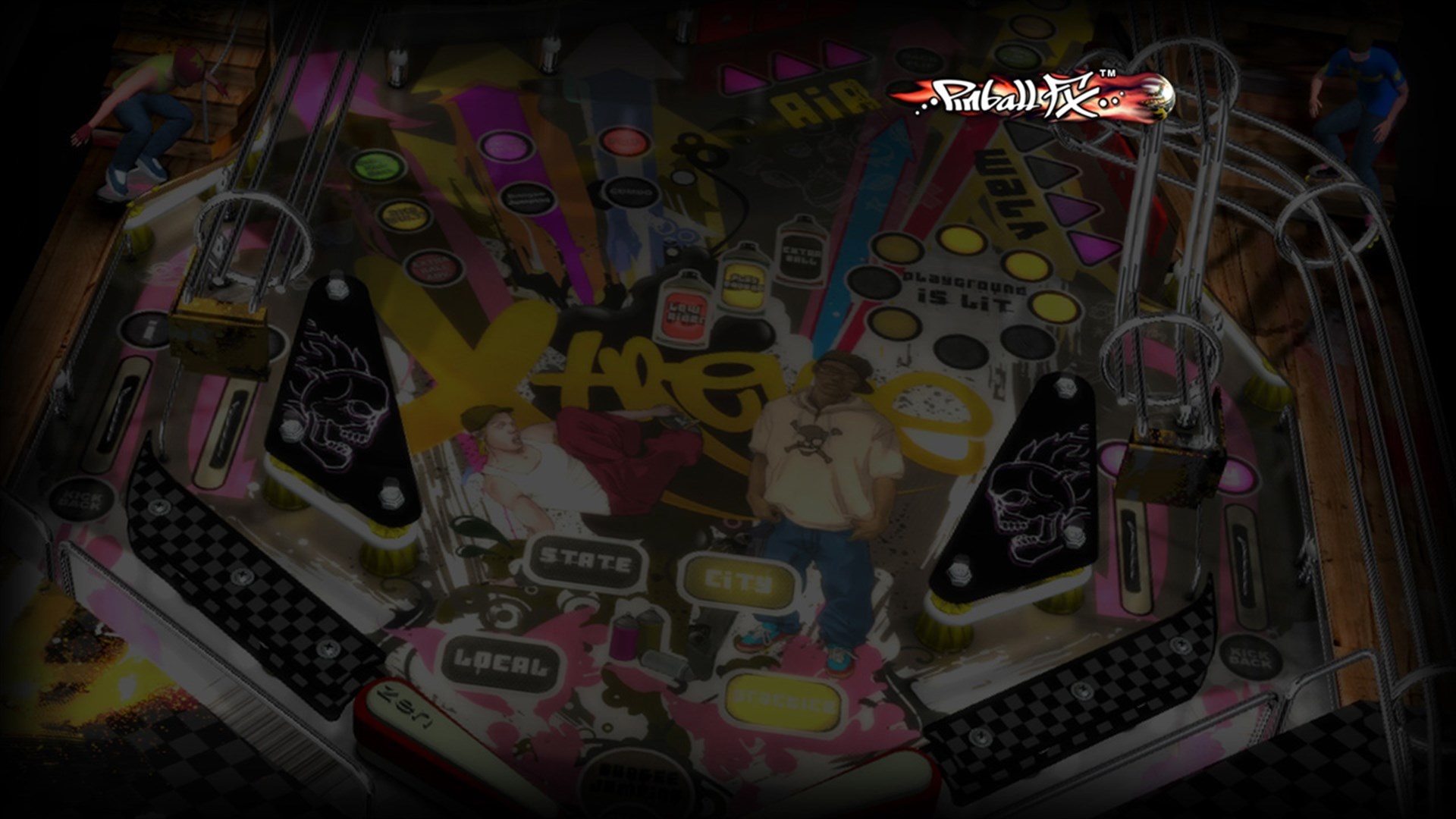 Pinball FX - ROCKY AND BULLWINKLE table