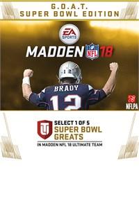 Madden NFL 18:  G.O.A.T. Super Bowl Edition