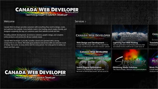 Get Web Design And Development By Canada Web Developer Microsoft Store