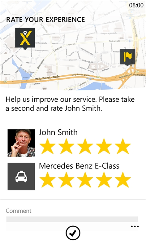 mytaxi Screenshot