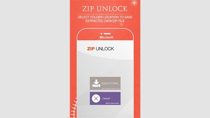 Get Zip Unlock - Unpack RAR, open zip, 7zip, gzip - Microsoft Store