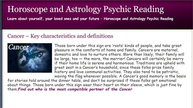 Kupit Cancer Astrology And Horoscope Microsoft Store Ru Ru