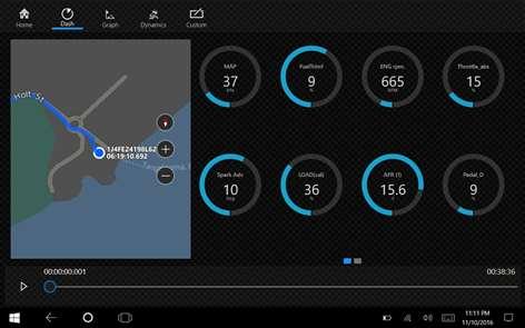 OBD dash.csv Analytics Screenshots 1