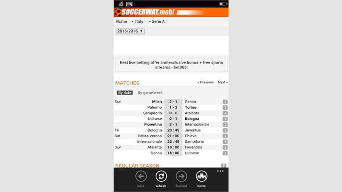 Get Soccerway Mobile - Microsoft Store