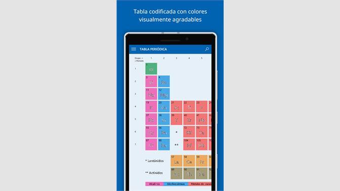 Obtener elementos la tabla peridica microsoft store es cr captura de pantalla urtaz Image collections