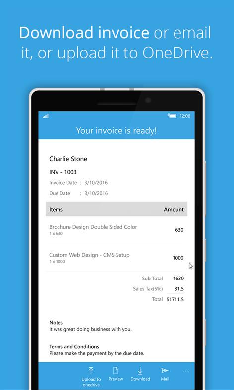 Get Free Invoice Generator Microsoft Store - Invoice creator free download home decor online stores
