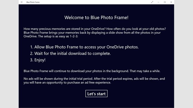 Get Blue Photo Frame - Microsoft Store