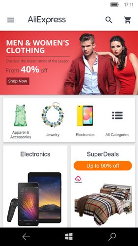 AliExpress Shopping App Screenshot