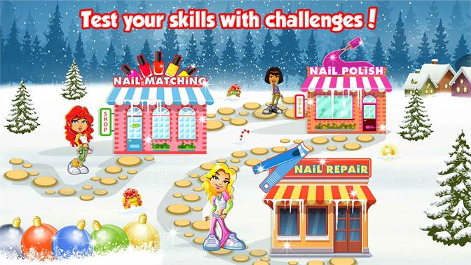 Skaffa Nail Salon Christmas - Nail Spa & Makeover Fun Games
