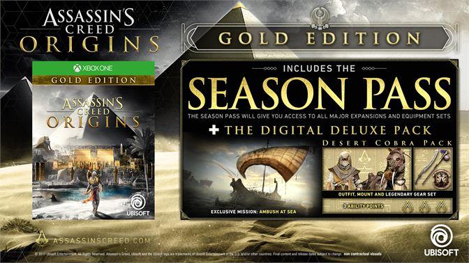 Buy Assassins Creed Origins Gold Edition Microsoft Store