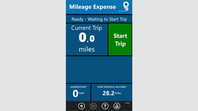 get mileage expense microsoft store