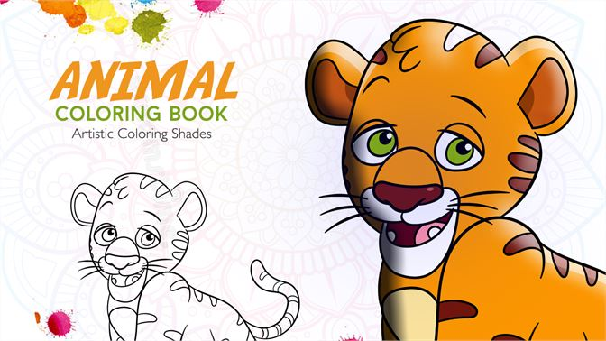 Get Animal Coloring Book With Multiple Templates & Coloring Options ...