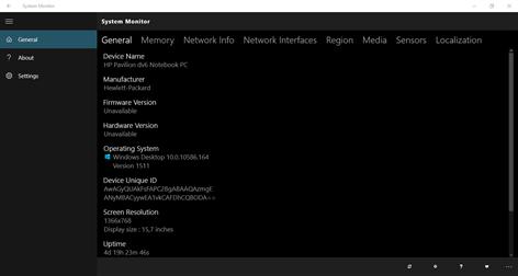 System Monitor Captures d'écran 1