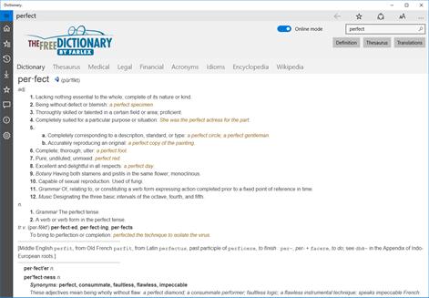 Dictionary. Screenshots 1
