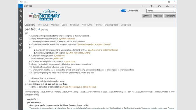 Get Dictionary  - Microsoft Store