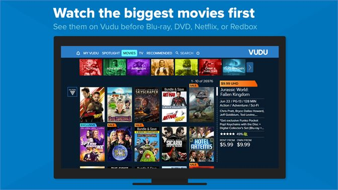 get vudu movies and tv microsoft store