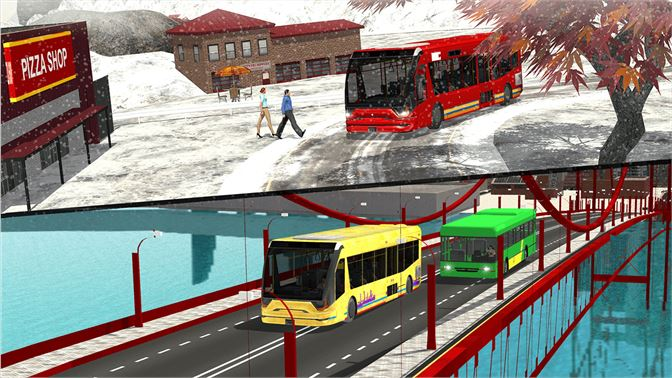 Get Snow Mountain Bus Driver - City Winter Driving Fun