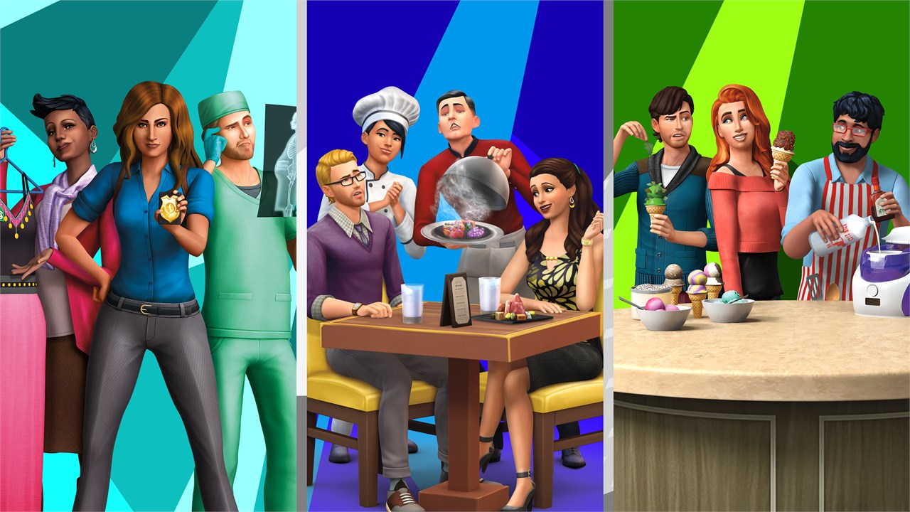 Die Sims™ 4-Bundle - An die Arbeit!, Gaumenfreuden, Coole  Küchen-Accessoires kaufen – Microsoft Store de-CH