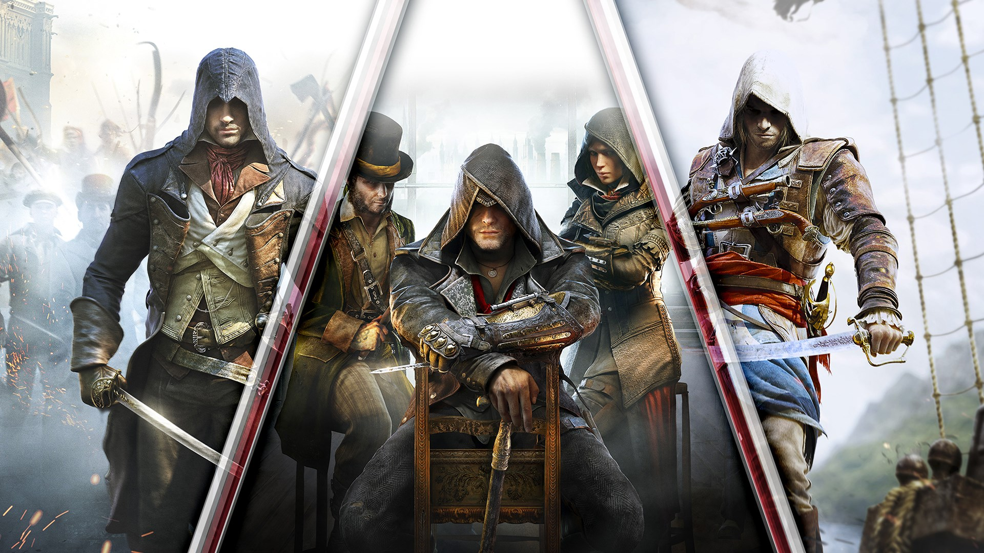 Comprar Pack triplo Assassin's Creed: Black Flag, Unity, Syndicate -  Microsoft Store pt-BR