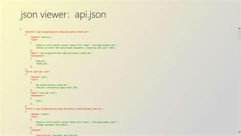 screenshot viewing a json file