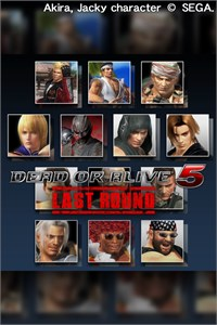 DOA5LR: Core Fighters - Male Fighters Set