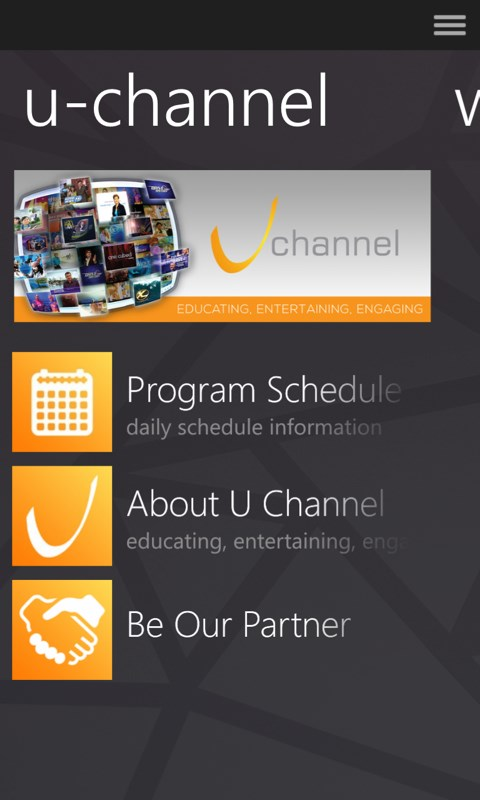 Captura 1 de UCB Indonesia - U Channel Tv para windows